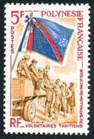 POLYNESIE 1964 - Yv. 29 ** SUP  Cote= 12,70 EUR - Volontaires Du Bataillon Du Pacifique  ..Réf.POL23777 - French Polynesia