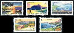 POLYNESIE 1964 - Yv. 30 31 32 33 34 ** SUP  Cote= 28,00 EUR - Paysages De Polynésie Française (5 Val.)  ..Réf.POL23779 - Ungebraucht