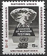 NATIONS - UNIES    -    1964 .   Y&T N° 129 **.   Pour L' Arrêt  Des Essais Nucléaires - New-York - Siège De L'ONU