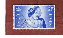 GRAN BRETAGNA (UNITED KINGDOM) -  SG 493   - 1948  ROYAL SILVER WEDDING   - USED° - Usati
