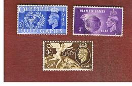 GRAN BRETAGNA (UNITED KINGDOM) -  SG 495.498   - 1948  OLYMPIC GAMES    - USED° - Usati