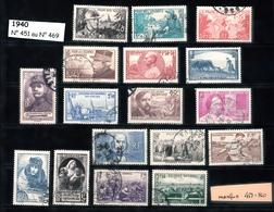 Année 1940   - Timbres Oblitérés - France