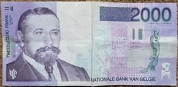 Billet 2000 Francs Belge Victor Horta Tweeduizend Frank Deux Mille - 2000 Francs