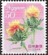 JAPAN (FUKUSHIMA PREFECTURE) 2008 Prefectural Flowers - 50y - Safflower FU - 1989-... Empereur Akihito (Ere Heisei)
