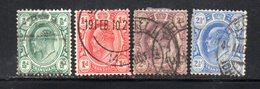 APR321 - TRANSVAAL SUD AFRICA 1906 , Serie  Yvert N. 177/180  Usata  (2380A) . Multi CA - Sud Africa (...-1961)