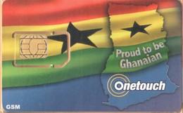 Ghana - GH-ONE-GSM-0001, Onetouch - GSM / SIM, Flag - Proud To Be Ghanaian, Mint - Ghana