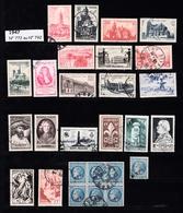 Année 1947   - Timbres Oblitérés - Oblitérés