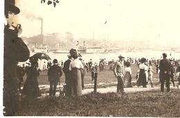 PHOTO ORIGINALE 1912 - COLOGNE BORD DU RHIN BATEAU A VAPEUR - DAMPFBOOT - ZOOM - Luoghi