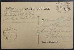 Carte De Franchise Militaire Du 239e RI Vers Mesnil-follemprise Londinières 31-12-1939 Oblitération Correspondant Postal - Cartes De Franchise Militaire