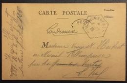Carte De Franchise Militaire Du 239e RI Vers Mesnil-follemprise  Oct 1939 Oblitération Correspondant Postal - Cartes De Franchise Militaire