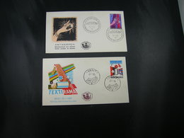 "BELG.1965 1313 & 1314 FDC's : "" Textirama & Diamantexpo "" - FDC"