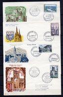 FRANCE - FR1306 - 1954 - 11 FDC - Sites Et Monuments - 100 € - FDC