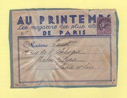 Type Semeuse - 45c Preo Sur Etiquette Des Magasins Printemps - Tarif Imprimes 3e Echelon - Marcophilie (Lettres)