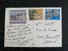 LETTRE SAINT MARIN SAN MARINO YT 889 828 703 ACHILLE ART ETRUSQUE MONNAIE CHAMPIGNON MUSHROOM - Lettres & Documents