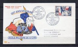 FRANCE - FR1305 - 1954 - FDC - Saint-Cyr-de-Coetquidan - 10 € - FDC