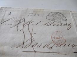 MARQUE POSTALE  LETTRE   LUBECK  Vers  BORDEAUX    1840 - Marcophilie (Lettres)
