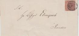 DENMARK USED COVER 1855 MICHEL 1 VIBORG RANDERS - Lettres & Documents