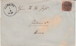 DENMARK USED COVER MICHEL 1 GARDING - Lettres & Documents