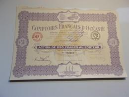 COMPTOIRS FRANCAIS D'OCEANIE (1920) - Unclassified