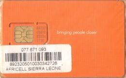 Sierra Leone - SL-AFR-GSM-0001, Africell - GSM / SIM, Bringing People Closer, Mint In The Original Wrapper - Sierra Leone