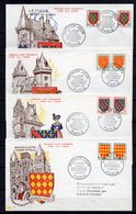 FRANCE - FR1303 - 1954 - 7 FDC - Blasons - 12 € - FDC