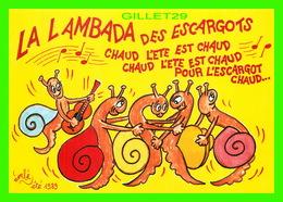 ILLUSTRATEURS - EMBÉ - LA LAMBADA DES ESCARGOTS - COLLECTION 1989 - TIRAGE LIMITÉ 300 Ex - - Illustrateurs & Photographes