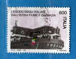 Italia °- 1997 - Esodo Degli Italiani Dalla Dalmazia Fiume Ed Istria.  Unif. 2359.  Usato.  Vedi Descrizione - 1946-.. République