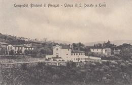 COMPIOBBI-FIRENZE-CHIESA DI SAN DONATO A TORRI-CARTOLINA VIAGGIATA IL 17-7-1912 - Firenze