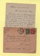 Type Semeuse - Destination Zinder AOF - 18-11-1917 - Chalons Sur Marne - Marcophilie (Lettres)