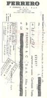 CAMBIALE  TRATTA  --FERRERO  ALBA  -DOLCIUMI - Assegni & Assegni Di Viaggio