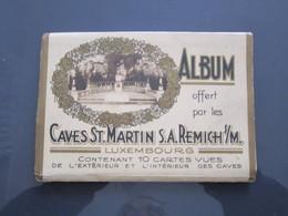 ALBUM DE 10 Cartes Cave St Martin REMICH    19 - Remich
