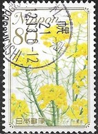 JAPAN (CHIBA PREFECTURE) 2009 Prefectural Flowers - 80y - Rape Flowers (Chiba) FU - 1989-... Empereur Akihito (Ere Heisei)