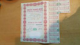 SFB - SOCIETE FRANCO-BELGE DE MATERIEL DE CHEMINS DE FER - Actions & Titres