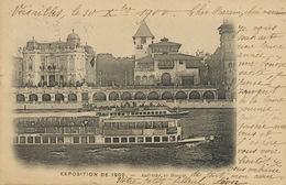 French Exhibition In Paris 1900 Austrian And Bosnian Pavillions . P. Used 1900 Versailles Type Sage - Bosnie-Herzegovine