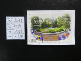 """2012  """" Garten 500g """" Auf Ausschnitt, Gut Gestempelt   LOT 1074 - 1944-... Republik"""