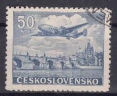Czechoslovakia 1946 Airmail Mi#500 Used - Czechoslovakia