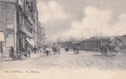NAPOLI-VIA MARINA-BELLA ANIMAZIONE-CARTOLINA NON VIAGGIATA -ANNO 1906-1910 - Napoli
