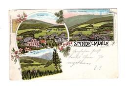 Historische AK - Gruss Aus Spindelmühle - Böhmen - Gelaufen 1898 - Verlag: Fritz Vogel, Warmbrunn - Bohemen En Moravië