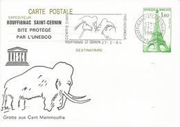 Entier Cp Tour Eiffel 1984 Rouffignac - Ganzsachen
