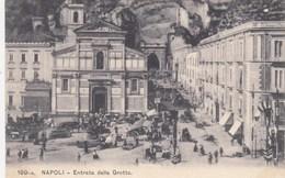 NAPOLI-ENTRATA DELLA GROTTA-BELLA ANIMAZIONE-CARTOLINA NON VIAGGIATA -ANNO 1906-1910 - Napoli