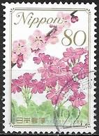 JAPAN (CHIBA PREFECTURE) 2009 Prefectural Flowers - 80y - Plum Blossom And Primula (Osaka) FU - 1989-... Empereur Akihito (Ere Heisei)
