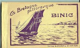 BINIC Carnet Complet 12 Vues La Bretagne Pittoresque  Ed. Waron - Binic