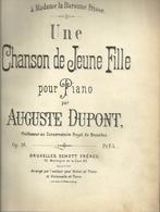Partitions Pour Piano Un Vol In-folio Rel. Contenant De Nombreuses Partitions - Partitions Musicales Anciennes