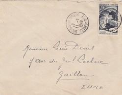 SEUL SUR LETTRE. 1949 EXPLORATION POLAIRE  829 - 1921-1960: Moderne
