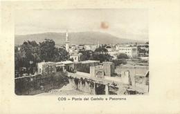 """3241 """" COS-PONTE DEL CASTELLO E PANORAMA """" CART. POS. ORIG. NON SPEDITA - Grecia"""