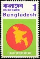 1971 Timbre Drapeau De L'indépendance - Bangladesh