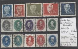 TIMBRES D ALLEMAGNE  OBLITEREES 1950  Nr VOIR SUR PAPIER AVEC TIMBRES  COTE 240  € - [6] Repubblica Democratica