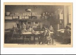 Saint-Laurent-en-Brionnais - Le Pensionnat - Salle De Dessin - édit. J. Combier Macon  + Verso - Otros Municipios
