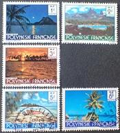 DF50500/689 - 1979 - POLYNESIE FR. - N°132 à 137 ☉ (sauf N°135) - Polynésie Française