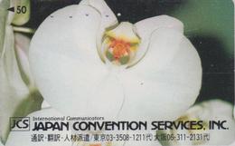 Télécarte Japon / 110-011 - Fleur - ORCHIDEE  Série JPS - ORCHID Flower Japan Phonecard  ** CONVENTION SERVICES ** 2421 - Fleurs